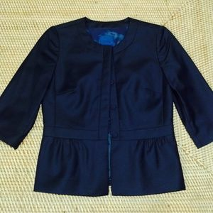 J. CREW Blue Label crew neck wool blazer size 0